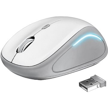 Trust Yvi FX Wireless Mouse - white (22335)