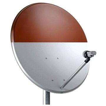 TeleSystem satelitní železná parabola 74x84cm červená, karton (H03ba)