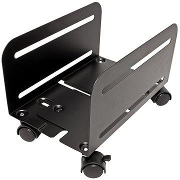 OEM Držák PC, šíře 119 - 209mm, kov, kolečka, černý