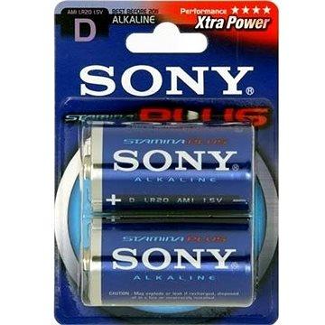 Sony STAMINA PLUS, LR20/D 1.5V, 2 ks (AM1-B2D)