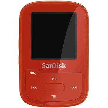 SanDisk Sansa Clip Sports Plus 16GB červený (SDMX28-016G-G46R)