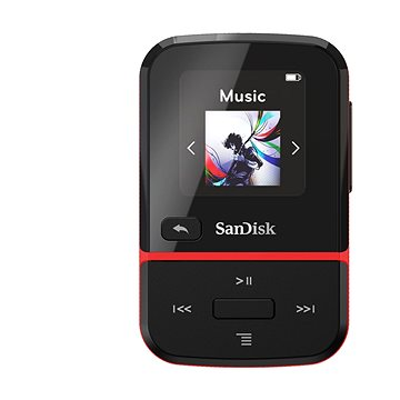 SanDisk MP3 Clip Sport GO 32 GB červená (SDMX30-032G-G46R)