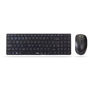 Rapoo 9300M Set CZ/SK černý (Rapoo 9300M)