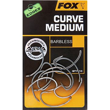 FOX Edges Armapoint Curve Medium Velikost 8B Barbless 10ks (5055350277980)