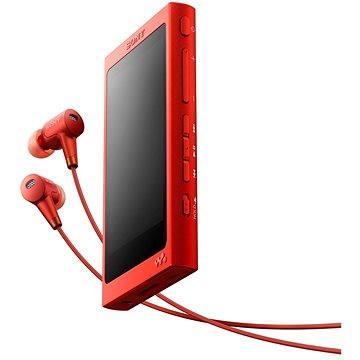 Sony Hi-Res WALKMAN NW-A35 červený + sluchátka MDR-EX750 (NWA35HNR.CEW)