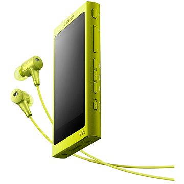 Sony Hi-Res WALKMAN NW-A35 žlutý + sluchátka MDR-EX750 (NWA35HNY.CEW)