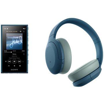 Sony MP4 16GB NW-A105L modrý + Sony Hi-Res WH-H910N modrá