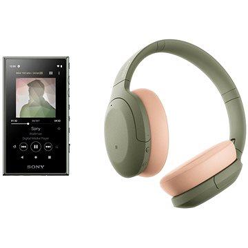 Sony MP4 16GB NW-A105L zelený + Sony Hi-Res WH-H910N zeleno-tělová