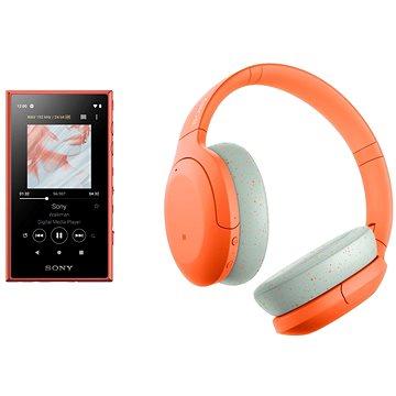 Sony MP4 16GB NW-A105L oranžový + Sony Hi-Res WH-H910N oranžovo-šedá