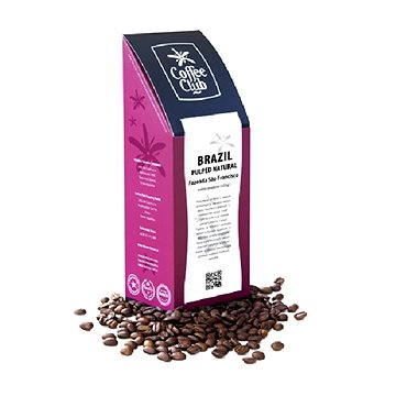 Coffee Club Brazil Pulped Natural Fazenda Sao Francisco, 227g, zrnková