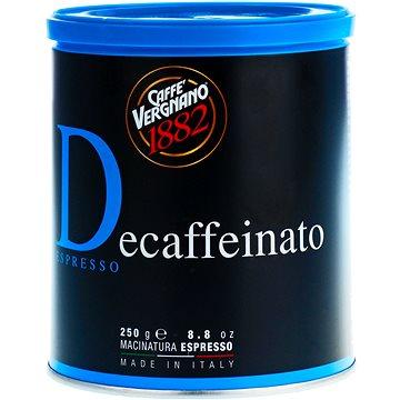 Vergnano Decaffeinato, 250g, mletá (008-001503)