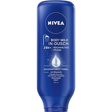 Tělové mléko NIVEA In-Shower Body Milk Nourishing 400 ml (9005800215396) + ZDARMA Dárek NIVEA BODY Cherry Blossom&Jojoba Oil 4 ml