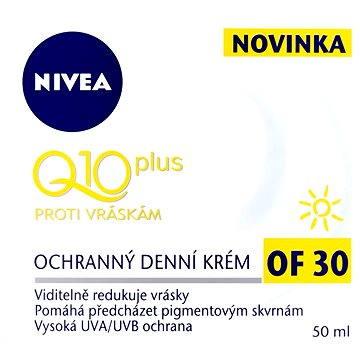 Pleťový krém NIVEA VISAGE Denní krém Q10 Plus OF30 50 ml (4005900167019) + ZDARMA Dárek NIVEA Cellular AA Pearl serum blister 2 ml