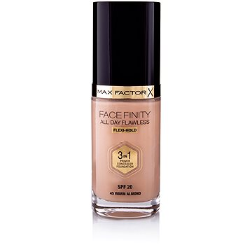Tekutý make-up MAX FACTOR Facefinity 3 in 1 Foundation 45 Warm Almond 30 ml (5410076971398)