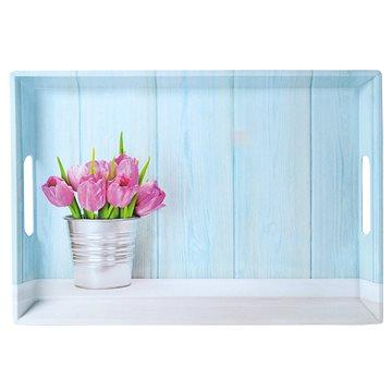 Kesper Servírovací tác motiv tulipány 50 x 35cm (77392)