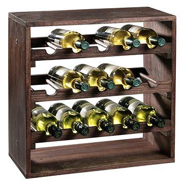 Kesper Stojan na víno, borovice tmavá 50x50x25cm (69243)