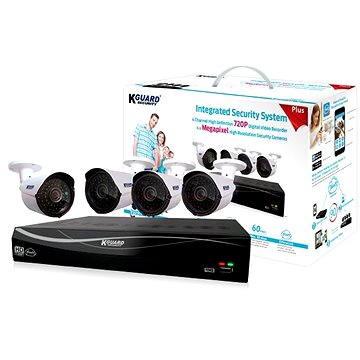 KGUARD 4-kanálový rekordér DVR + 4x barevná venkovní kamera (EL431-4WA713A)