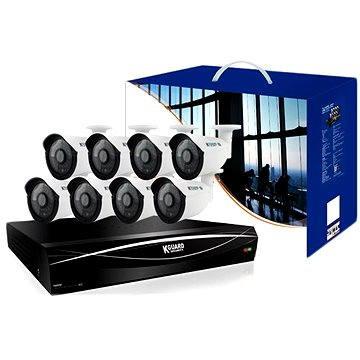 KGUARD 16-kanálový rekordér DVR + 8x barevná venkovní kamera (HD1681-2WA713APK4/hd1681-8wa71)