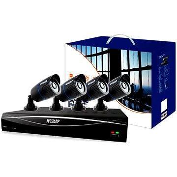 KGUARD 8-kanálový rekordér DVR + 4x barevná venkovní kamera (HD881-WA713APK4)