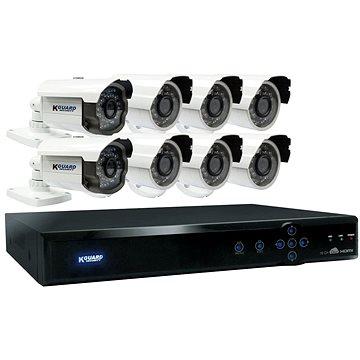 KGUARD hybridní 16kanálový DVR rekordér + 8x barevná venkovní kamera (HD1681-8WA813F)