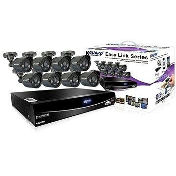 KGUARD hybridní 8kanálový DVR rekordér + 4x barevná venkovní kamera (HD881-4WA813F)