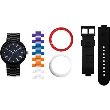 LEGO Watch 4 Stud Brick Black/Chrome 9007705 (5060286803561)