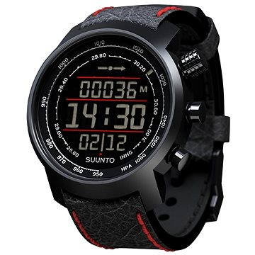 Sporttester SUUNTO ELEMENTUM TERRA N/BLACK/RED LEATHER (SS019171000)