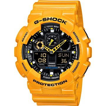 Pánské hodinky Casio G-SHOCK GA 100A-9A (4971850443827) + ZDARMA Elektronický časopis Exkluziv - aktuální vydání od ALZY Elektronický časopis Interview - aktuální vydání od ALZY