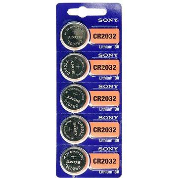 Knoflíkové baterie Sony CR2032 (5 ks) (4901660133199)