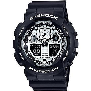 Pánské hodinky CASIO G-SHOCK GA 100BW-1A (4971850031215) + ZDARMA Elektronický časopis Exkluziv - aktuální vydání od ALZY Elektronický časopis Interview - aktuální vydání od ALZY