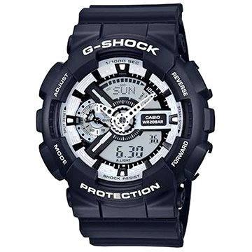Pánské hodinky CASIO G-SHOCK GA 110BW-1A (4971850031260) + ZDARMA Elektronický časopis Exkluziv - aktuální vydání od ALZY Elektronický časopis Interview - aktuální vydání od ALZY