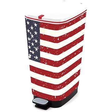 Odpadkový koš KIS Koš na odpad Chic Bin L American Flag 50l (80719002198)