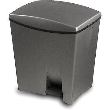Odpadkový koš KIS Odpadkový koš Duetto 10l+ 20l šedý (080706GMGA)