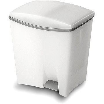 Odpadkový koš KIS Odpadkový koš Duetto 10l+ 20l bílý (080706WSGM)