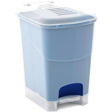 Odpadkový koš KIS Koš na odpad Koral Bin S - průhledný / modrý 10l (080708WHTRLBN)