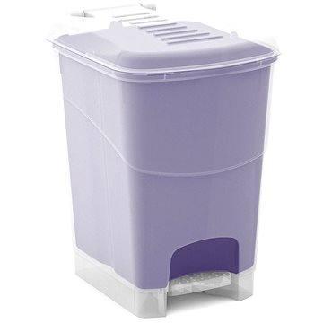 Odpadkový koš KIS Koš na odpad Koral Bin S- průhledný / lila 10l (080708WHTRLT)
