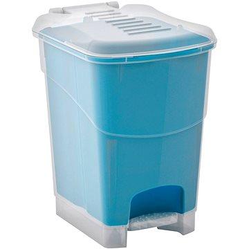 Odpadkový koš KIS Koš na odpad Koral Bin L, průhledný / modrý 20l (080707WHTRLBN)