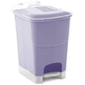 Odpadkový koš KIS Koš na odpad Koral Bin L - průhledný / lila 20l (080707WHTRLT)