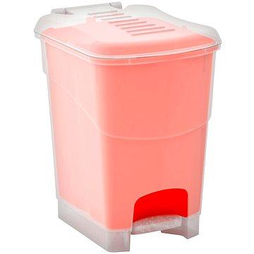 Odpadkový koš KIS Koš na odpad Koral Bin L - průhledný / oranžový 20l (080707WHTRLON)