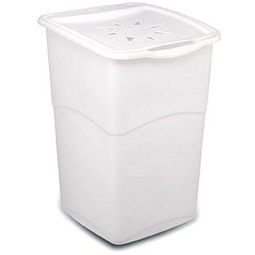 Koš na prádlo KIS Koš na špinavé prádlo Koral Basket - bílý 47l (006703WS)