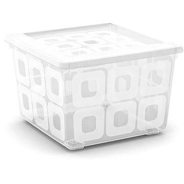 KIS Square Box s kolečky 28l transparentní (008499WHTR)
