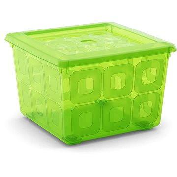 KIS Square Box s kolečky 28l zelený (008499LGT)