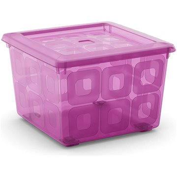 KIS Square Box s kolečky 28l růžový (84990000656)