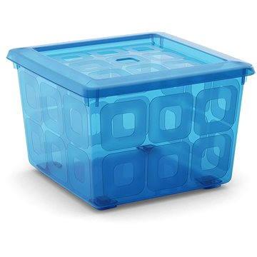 KIS Square Box s kolečky 28l modrý (008499TST)