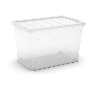 KIS Omnibox XL transparentní 60l na kolečkách (008612WHTRS)