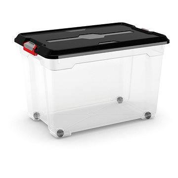 KIS Moover Box XL - černý 60l - na kolečkách (008464BKWHTR)
