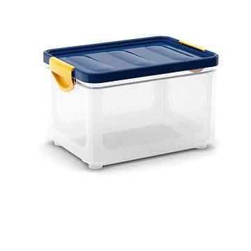 KIS Clipper Box M průhledný-modré víko 20l (008682WHTRN)