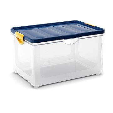 KIS Clipper Box XL průhledný-modré víko 60l (008683WHTRN)