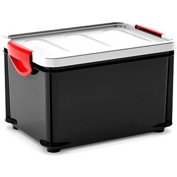 KIS Clipper Box M černý-šedé víko 20l (008682GA)