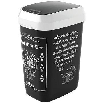 Odpadkový koš KIS Koš na odpad Dual Swing Bin Style M, Coffee menu, 25l (80761002205)